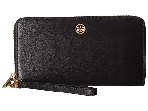Tory Burch Parker Zip Continental Wallet - Black