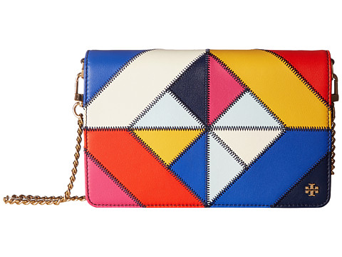 Tory Burch Diamond Stitch Chain Wallet - Multi