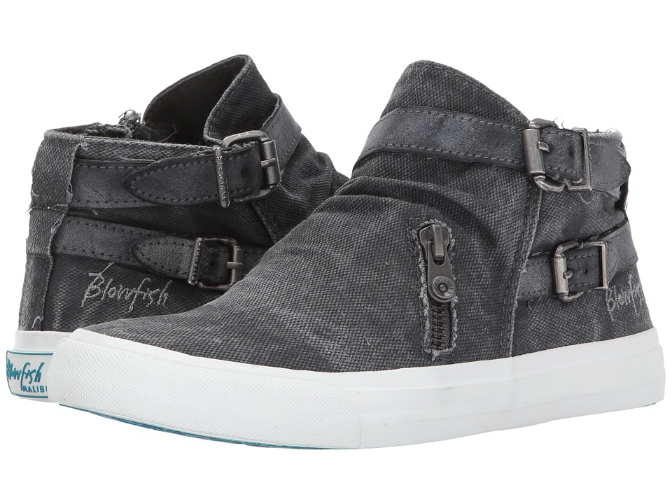 Blowfish Mondo (Grey Smoked 16 oz Canvas/Dark Grey Cecilia PU) Women