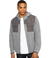 Levi's® - Mixed Media Two-Pocket Hooded Open Bottom Jacket