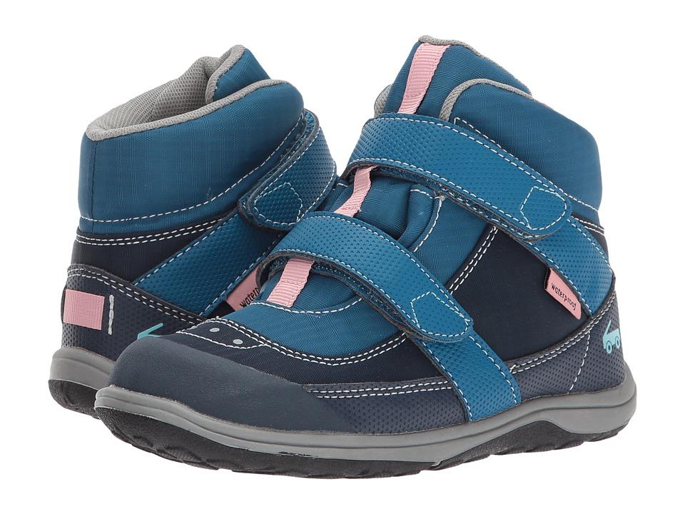 See Kai Run Kids Atlas WP (Toddler/Little Kid) (Dark Blue) Girl's Shoes