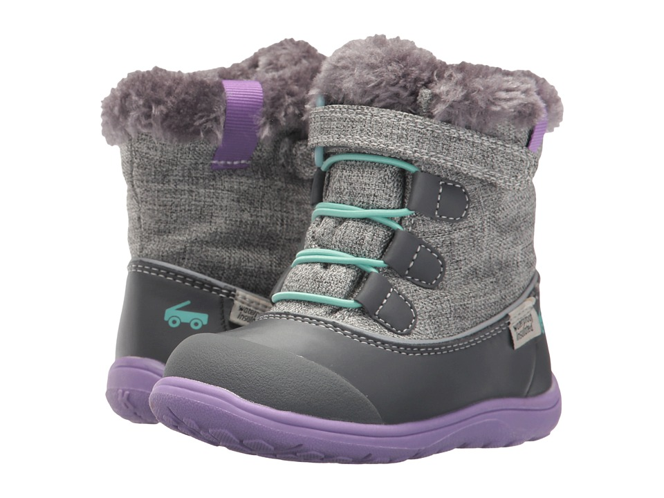 See Kai Run Kids Abby WP/IN (Toddler/Little Kid) (Gray) Girl's Shoes