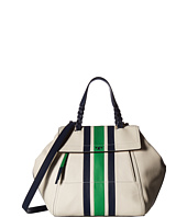 Tory Burch - Half-Moon Stripe Satchel