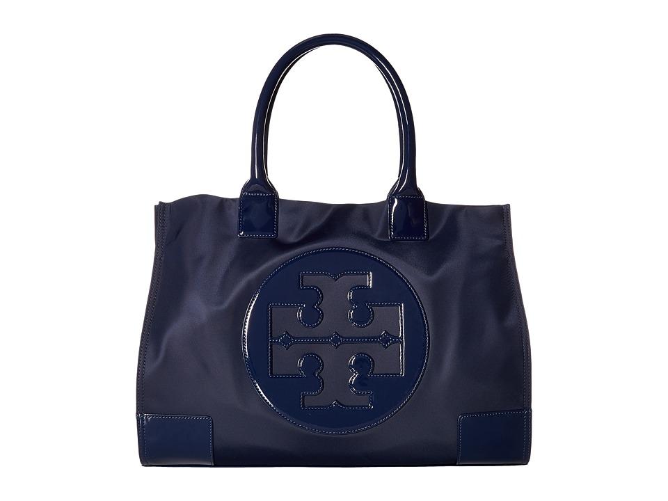 Tory Burch Nylon Ella Tote (French Navy) Tote Handbags