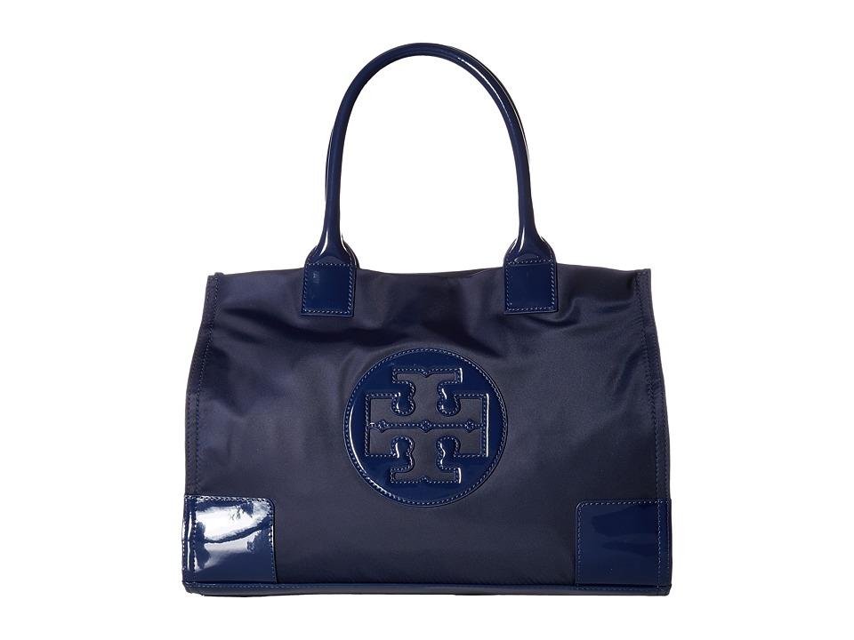 Tory Burch Nylon Mini Ella Tote (French Navy) Tote Handbags