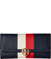 Tory Burch - Duet Stripe Envelope Continental Wallet
