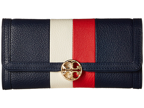 Tory Burch Duet Stripe Envelope Continental Wallet