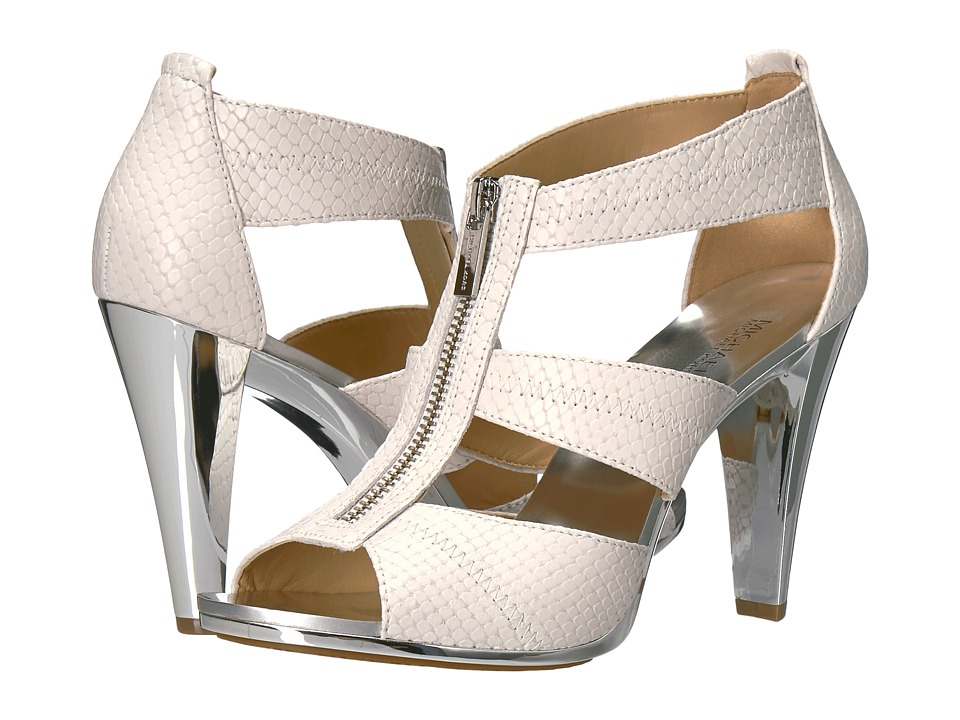 MICHAEL Michael Kors Berkley T-Strap (Optic White) High Heels