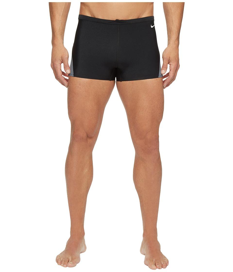Nike Surge Color Block Poly Square Leg Brief (Black) Men'...