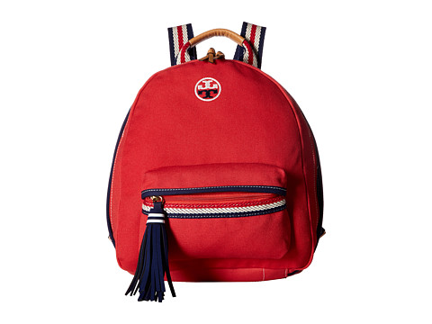 Tory Burch Embroidered-T Backpack - Cherry Apple