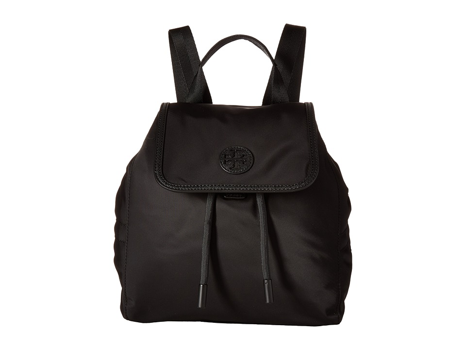 Tory Burch Scout Nylon Small Backpack (Black) Backpack Bags