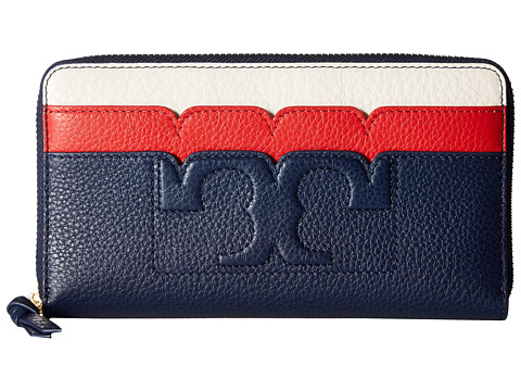Tory Burch Scallop-T Zip Continental Wallet
