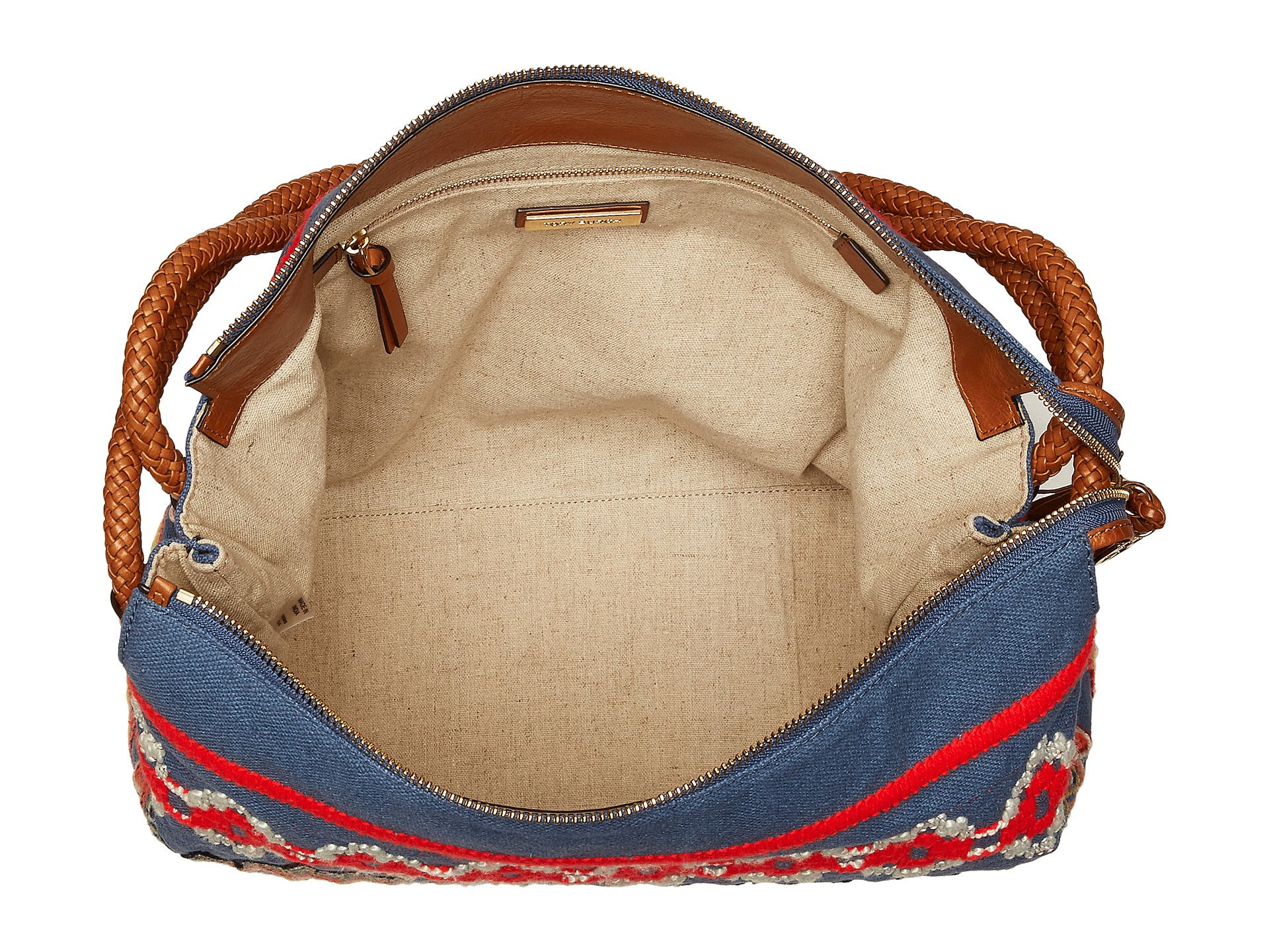Tory Burch Taylor Embroidered Hobo at Luxury.Zappos.com