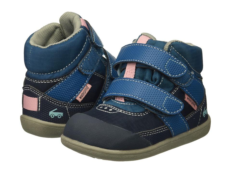 See Kai Run Kids Atlas WP (Toddler) (Dark Blue) Girl's Shoes