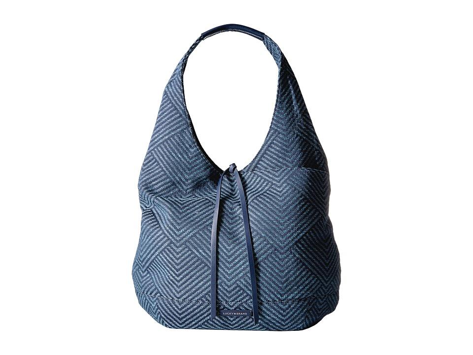 Lucky Brand Mia Hobo (Moroccan Blue) Hobo Handbags