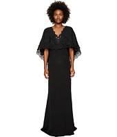 Marchesa - Plunging V-Neck Capelet