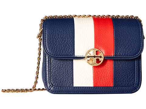 Tory Burch Duet Chain Stripe Micro Shoulder Bag