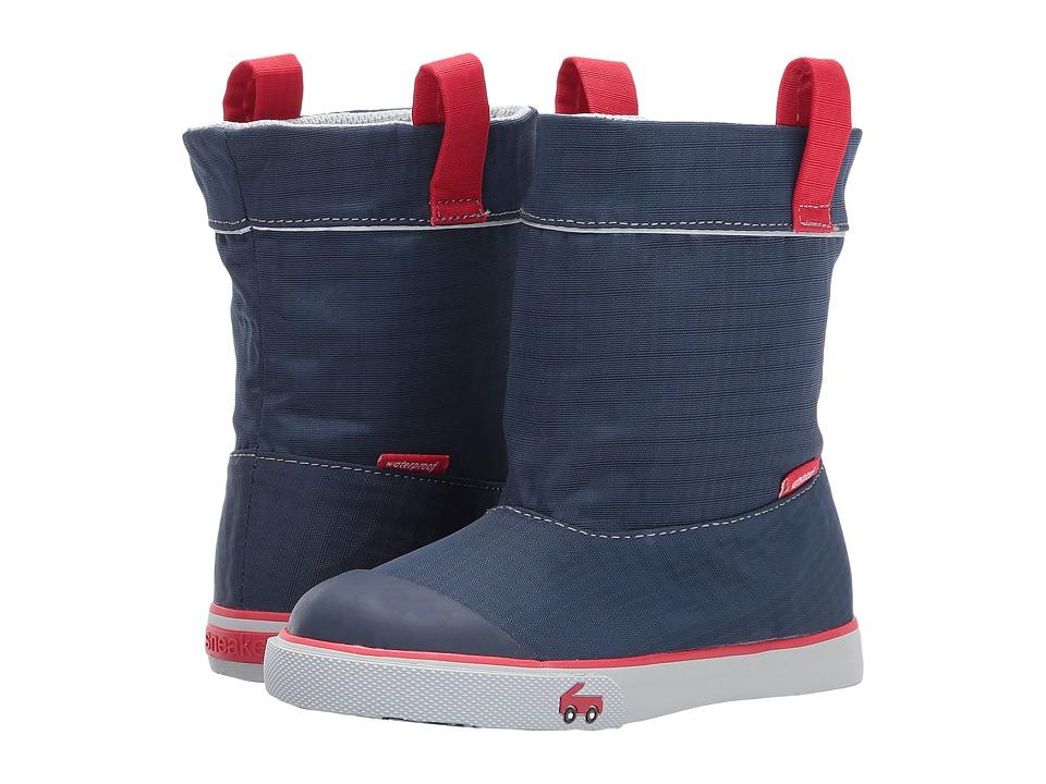 See Kai Run Kids Montlake WP (Toddler/Little Kid) (Navy) Boy's Shoes
