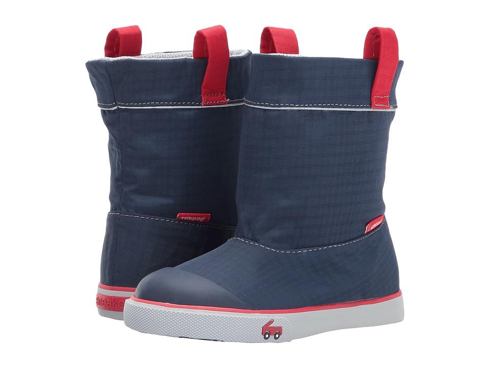 See Kai Run Kids Montlake WP (Little Kid) (Navy) Boy's Shoes