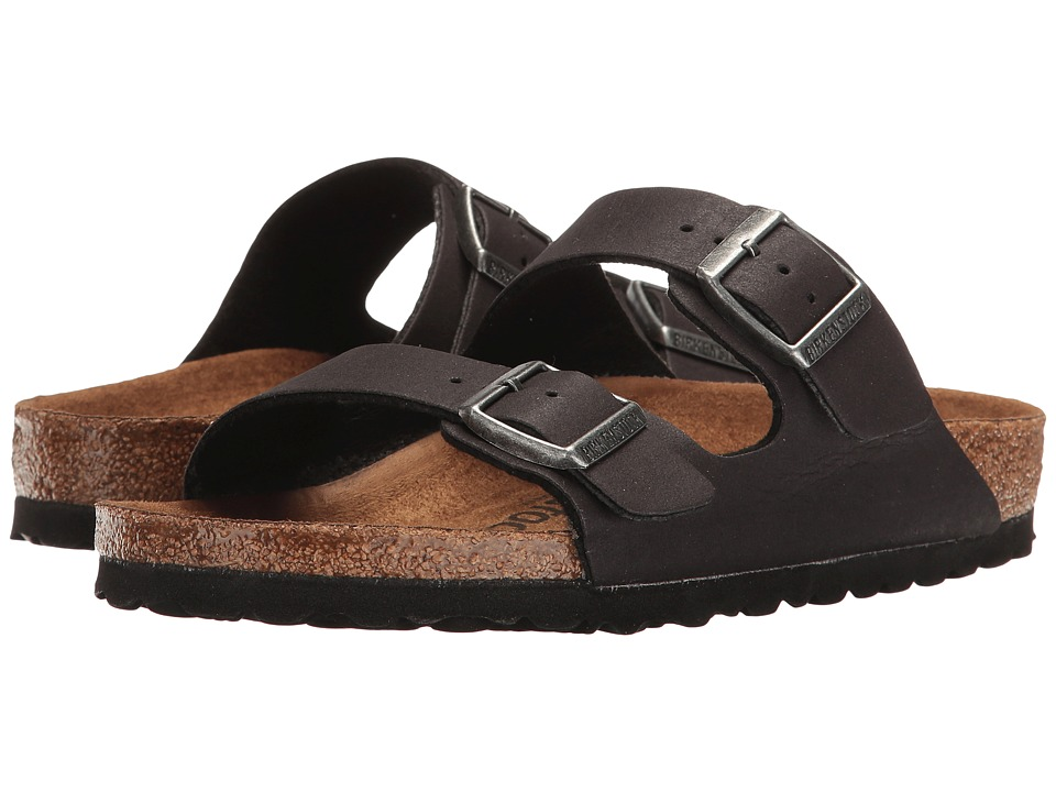 Birkenstock - Arizona Vegan (Anthracite Microfiber) Sandals