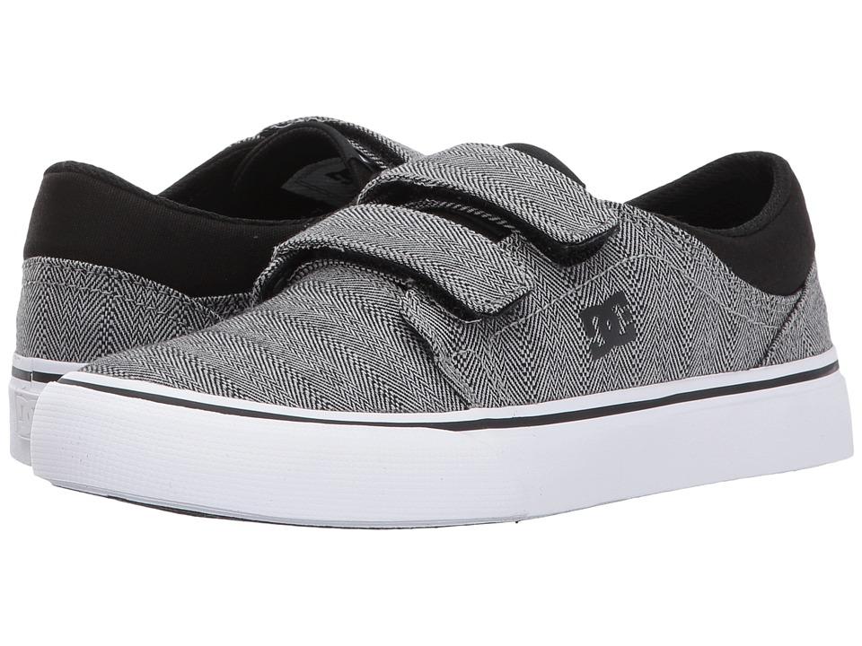 DC Kids Trase V TX SE (Little Kid/Big Kid) (Grey/Black/White) Boys Shoes
