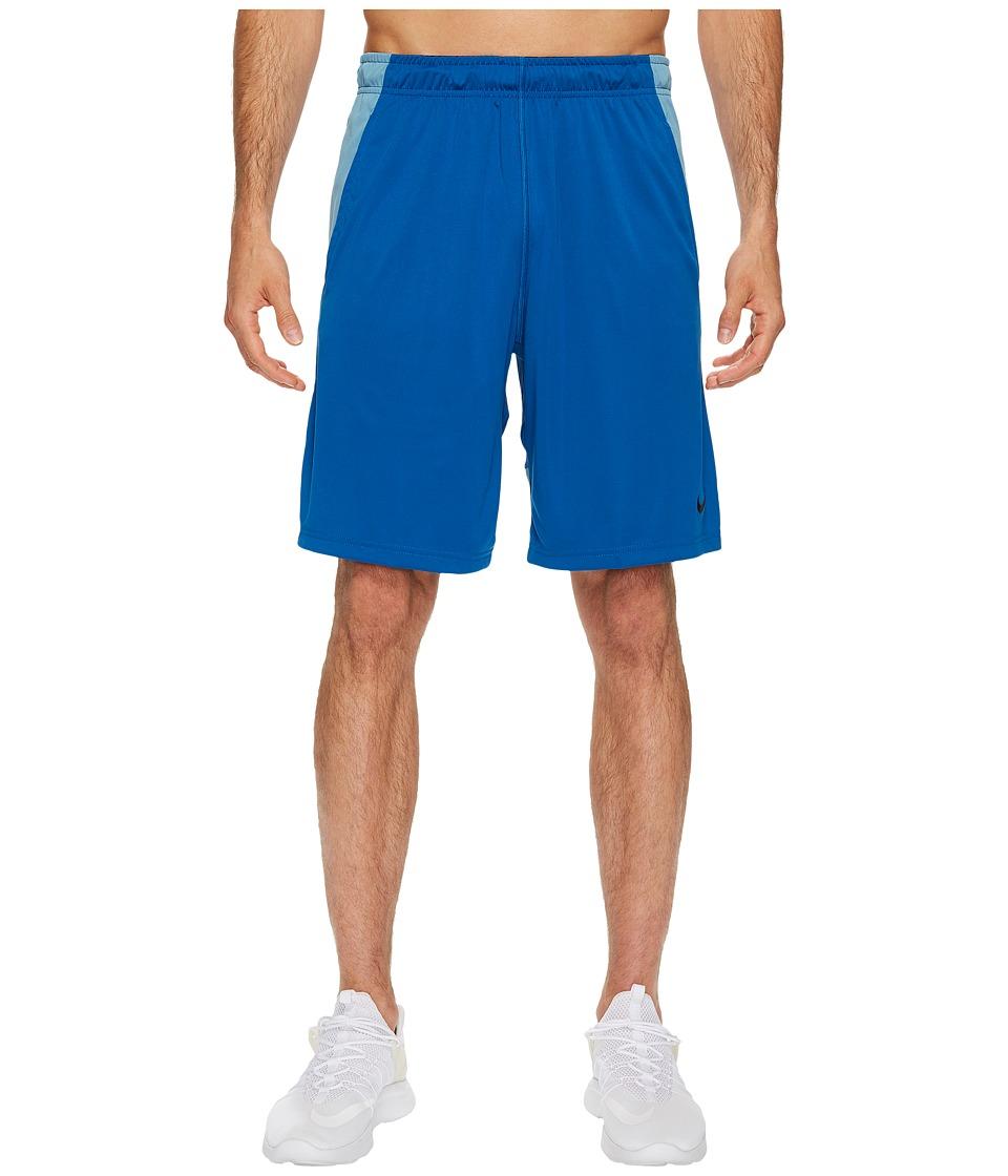 Nike Dry 9 Training Short (Blue Jay/Cerulean/Black) Men