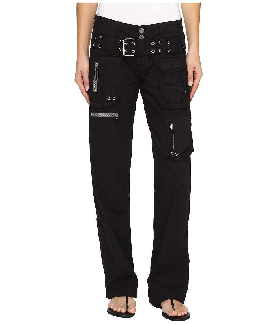 Johnny Was Poplin Cargo Pants (Black Edge) Women