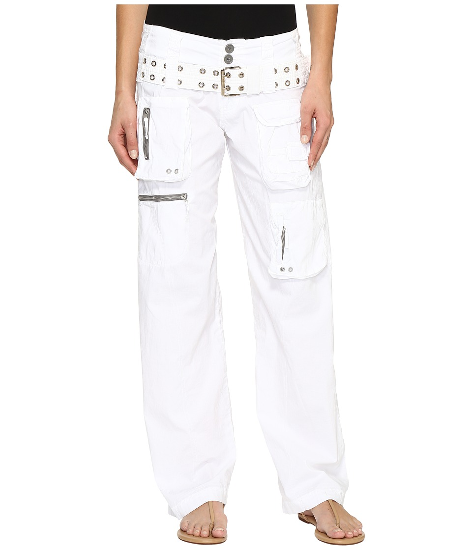 Johnny Was Poplin Cargo Pants (White) Women