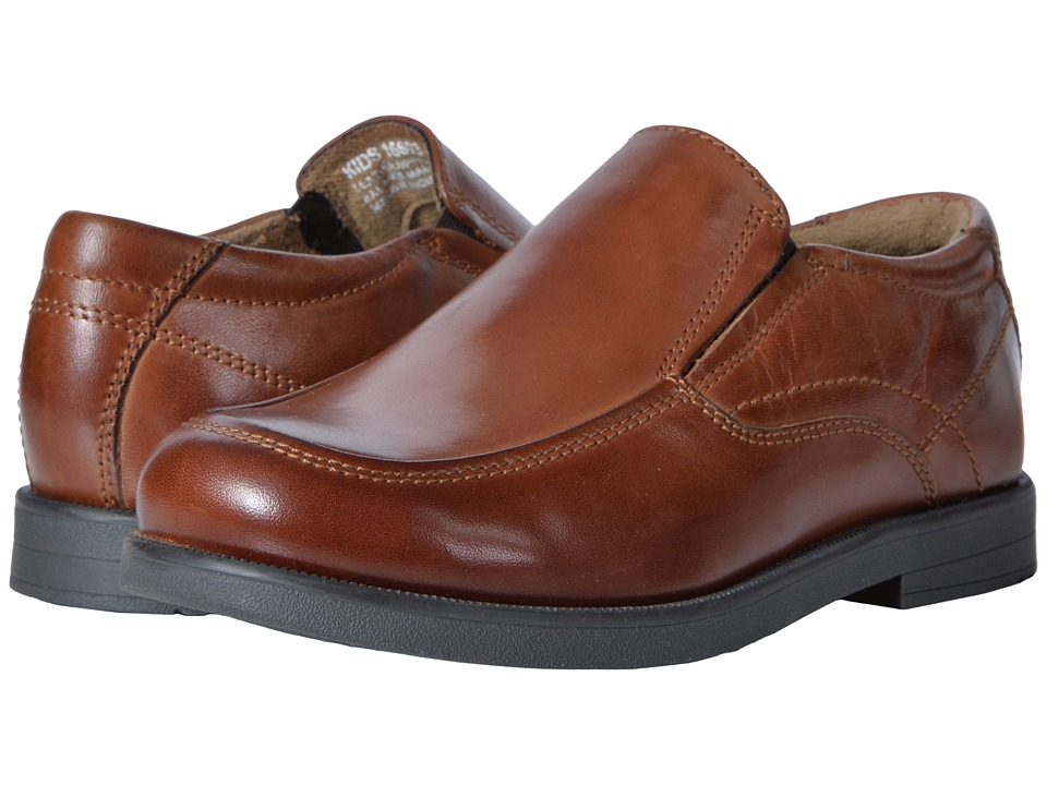 Florsheim Kids Midtown Moc Slip, Jr. (Toddler/Little Kid/Big Kid) (Cognac) Boys Shoes