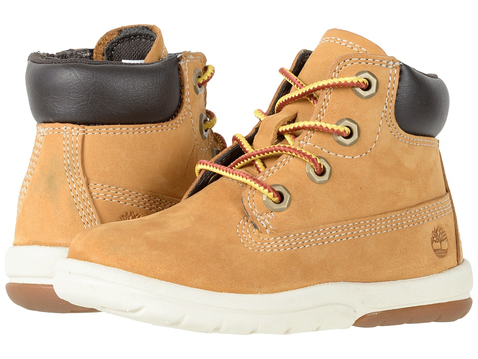 Timberland Kids Toddle Tracks 6 Boot (Toddler/Little Kid) (Wheat Nubuck) Kids Shoes