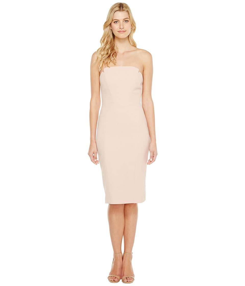 JILL JILL STUART JILL JILL STUART - Strapless Knee Length Fitted Crepy Dress