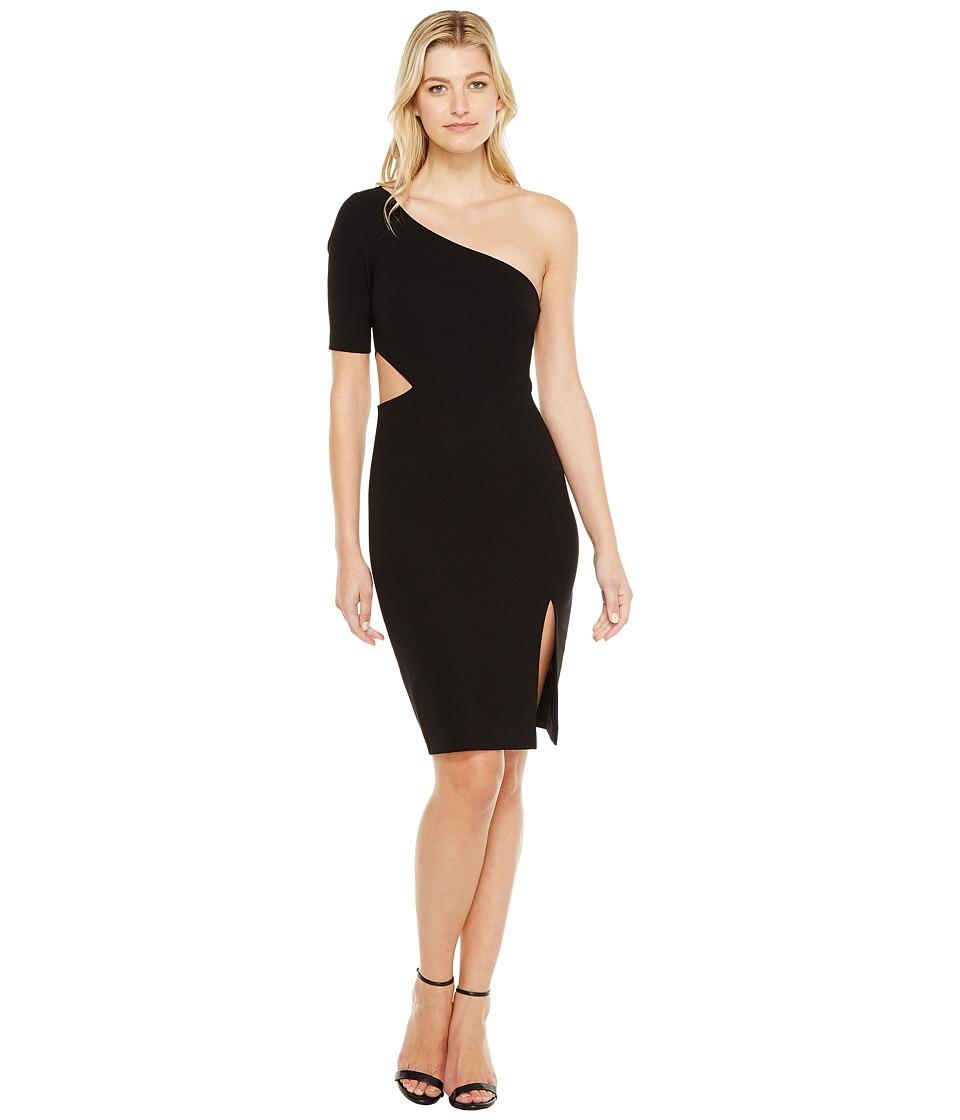 JILL JILL STUART One Shoulder Mini with Sleeve/Side Cut Out (Black) Women