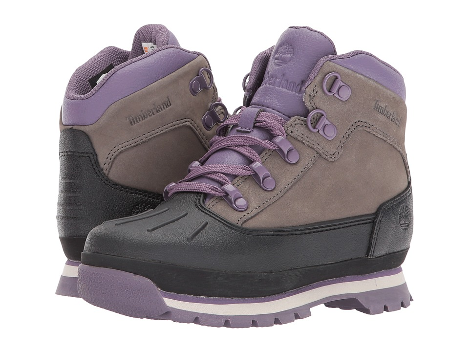 Timberland Kids Euro Hiker Shell Toe (Little Kid) (Pewter) Girl's Shoes