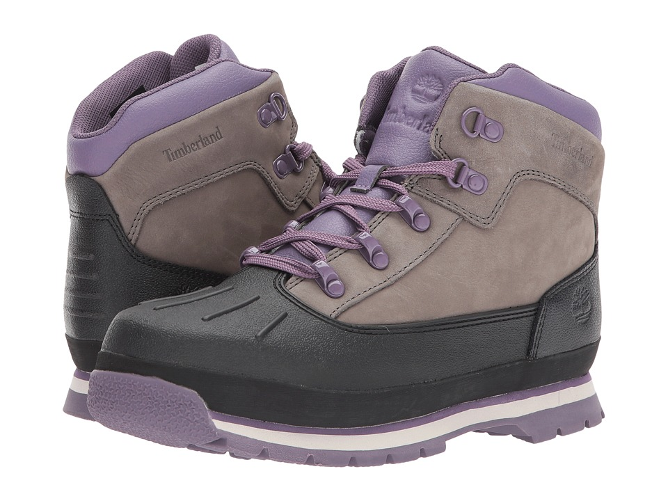 Timberland Kids Euro Hiker Shell Toe (Big Kid) (Pewter) Girl's Shoes