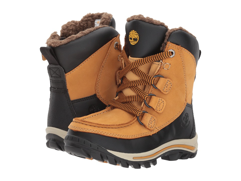 Timberland Kids Chillberg Rime Ridge HP Waterproof Boot (Toddler/Little Kid) (Wheat Nubuck) Kids Shoes