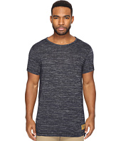 Scotch & Soda - Long Fit Crew Neck Tee in Melange Jersey Quality