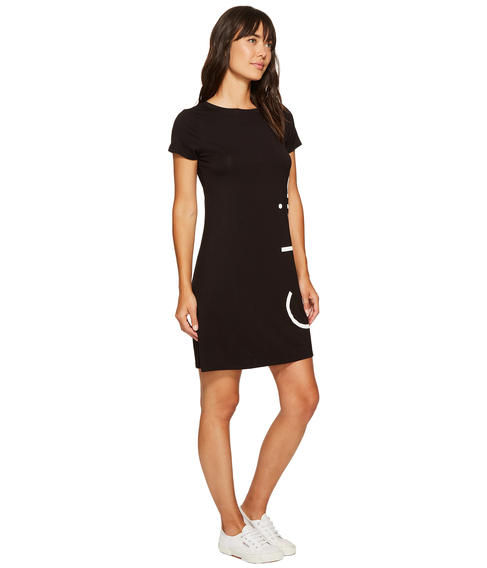 Calvin Klein Short Sleeve Logo Dress - Zappos.com Free Shipping BOTH ...