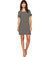 Calvin Klein - Short Sleeve Striped Dress with Tie Sleeve