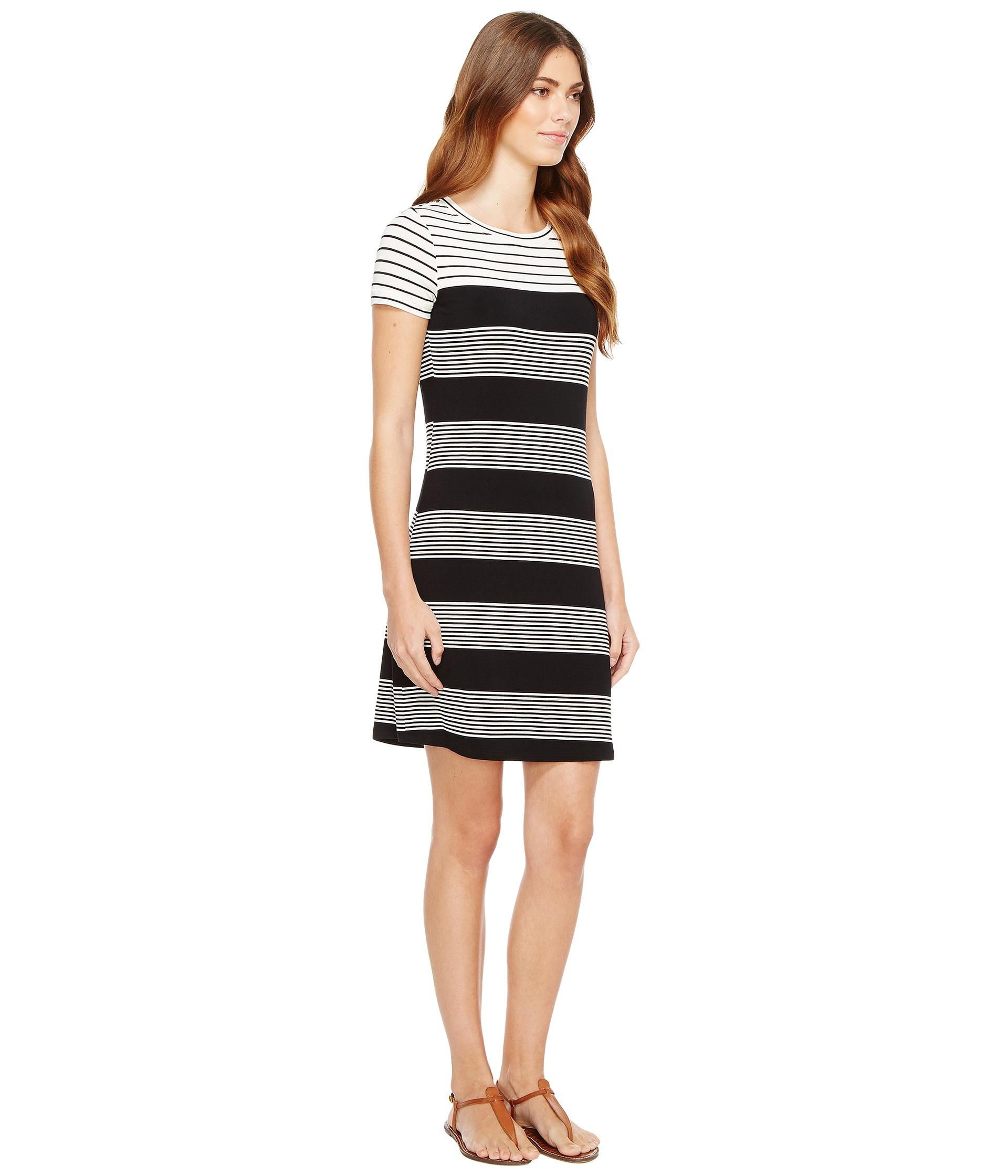 Calvin klein striped t shirt dress black white raf for Calvin klein x fit dress shirt