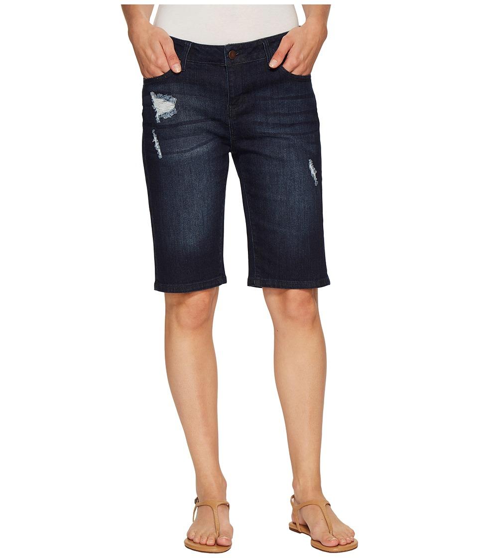 Liverpool - Bobbie Bermuda Shorts in Vintage Super Comfort Stretch Denim in Vallejo Dark Destruct (Vallejo Dark Destruct) Womens Shorts