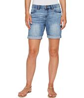 Liverpool - Sonny Walking Shorts in Soft Rigid Denim in Denmark Mid Blue