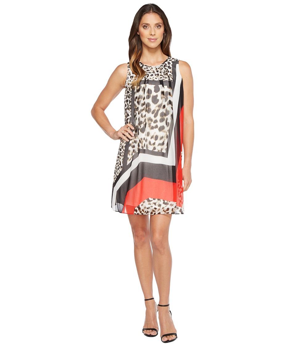Calvin Klein Printed A-line Dress (Leopard Combo) Women