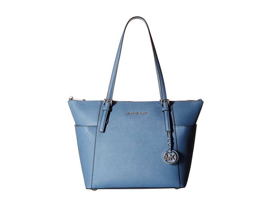 Michael Kors Jet Set Item East/West Top Zip Tote (Denim) ...