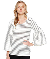 Calvin Klein - Dot Textured Bell Sleeve Top