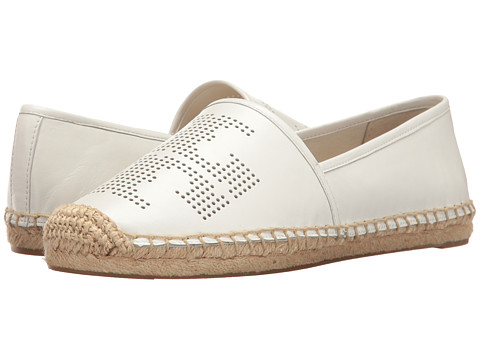 Tory Burch Perf Logo Espadrille - White