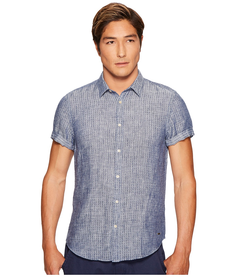 Scotch & Soda - Short Sleeve Shirt in Structured Linen Quality