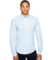 Scotch & Soda - Long Sleeve Shirt in Cotton Quality with All Over Mini Embroidered