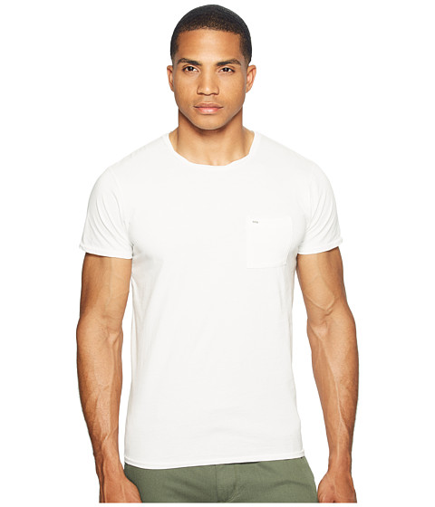 Scotch & Soda Garment Dyed Twisted Crew Neck Tee in Lightweight Jersey Quality