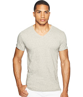 Scotch & Soda - V-Neck Tee in Jersey Melange Quality with Neps