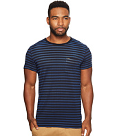 Scotch & Soda - Short Sleeve Tee in Lightweight Jersey Quality with Pique Stripe